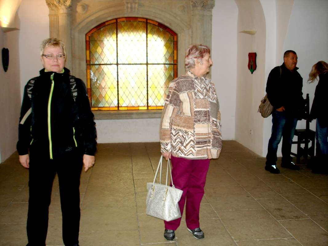 20.10.2017 Hrad - Milka, Oľga a Hajo s Jarkou